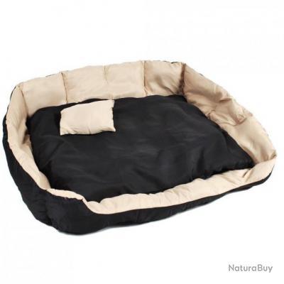 coussin pour chien lit pour chien panier pour chien douillet noir beige taille xxl. Black Bedroom Furniture Sets. Home Design Ideas