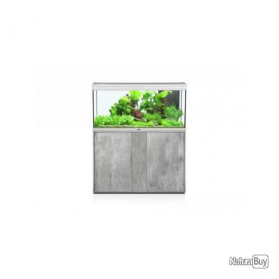 ensemble aquarium meuble elegance expert 100x40 led inox