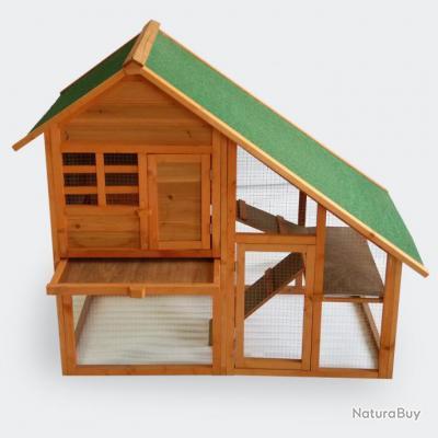 cabane pour petits rongeurs xxl clapier cage lapin avec enclos bois poulaillers clapiers. Black Bedroom Furniture Sets. Home Design Ideas