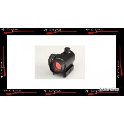 Micro point rouge tubulaire, réticule Dot 2moa, pour rail picatinny et Weaver.