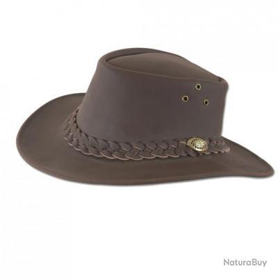 chapeau cuir marron