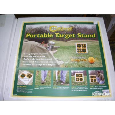 porte cible avec cible fluo CALDWELL modèle PORTABLE TARGET STAND + 6 portes cible de rechange