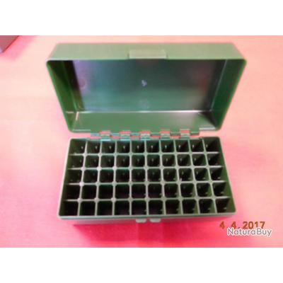 boite ABS de 50 tubes pour différents calibres,  223- 6mm