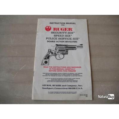 REVOLVER RUGER SECURITY SIX SPEED SIX POLICE SERVICE SIX NOTICE
