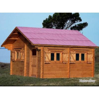 Habrita Foresta - Abri de jardin en bois 60 mm 35,34 m2 sapin massif ...