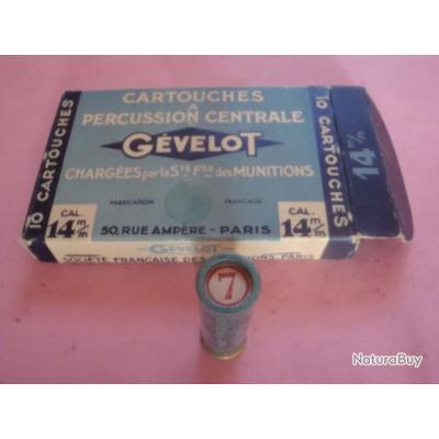 Boîte de 10 cartouches de calibre 14 mm GEVELOT (2)