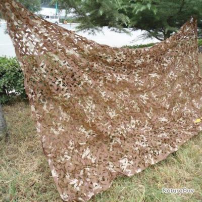 Filet camouflage militaire modele DESERT 1,5m x 5m