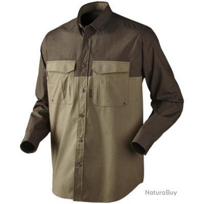 chemise homme seeland trekking marron xl chemises de chasse 3852317. Black Bedroom Furniture Sets. Home Design Ideas