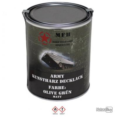 pot peinture arm e militaire 1l vert kaki mat ral 6014 resine nitro signalisation militaria. Black Bedroom Furniture Sets. Home Design Ideas