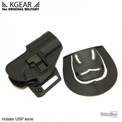 Kgear - Holster à rétention de ceinturon pour type USP - Noir - Droitier