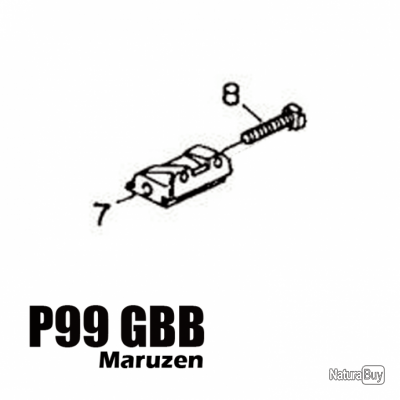 Maruzen - P99 GBB Assembly part number 08,07