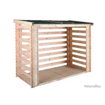 Jardipolys - Abri bûches en bois 3,5 stères avec plancher - COME ... 05e3a6512a03