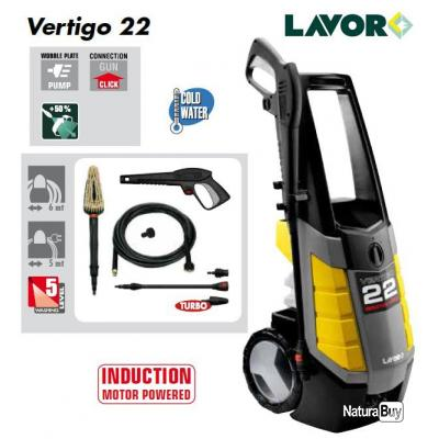 lavor - nettoyeur haute pression 150 bars 2200w 400l/h - vertigo