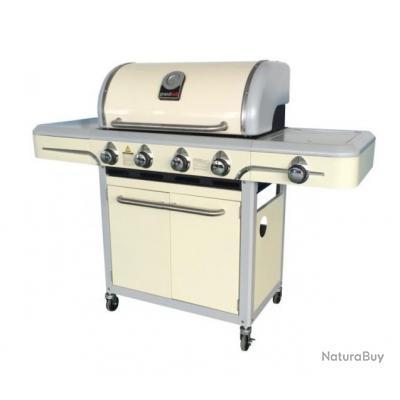 promo grandhall barbecue gaz 11 6 kw surface de cuisson 70 x 41 cm santa fe cr me. Black Bedroom Furniture Sets. Home Design Ideas