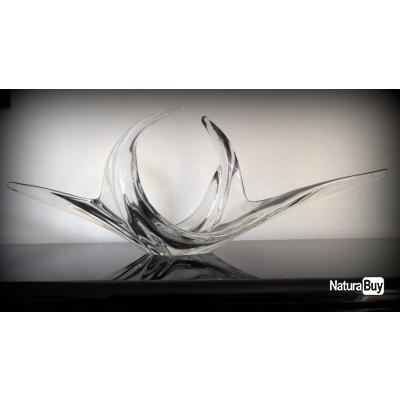 superbe coupe fruits stylis e en cristal blanc des. Black Bedroom Furniture Sets. Home Design Ideas