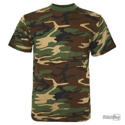 TEE-SHIRT  CAMOUFLAGE  - TAILLE L =  46  - COULEUR CAMOUFLAGE - 133395