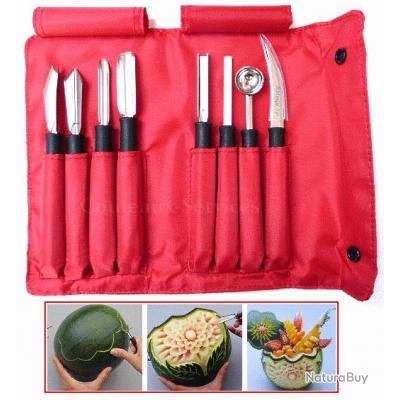 Trousse garnie 8 outils de décoration fruits et légumes Triangle