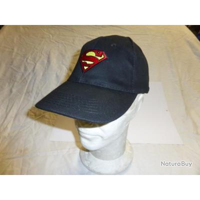 DESTOCKAGE : casquette neuve SUPERMAN MAN OF STEEL adulte noir