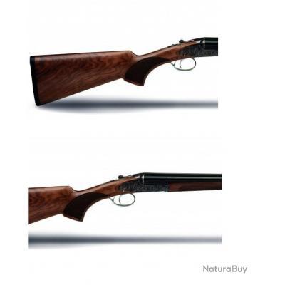 847fc026aec Fusil HUGLU juxtaposé contre platine jaspé calibre 28 crosse anglaise
