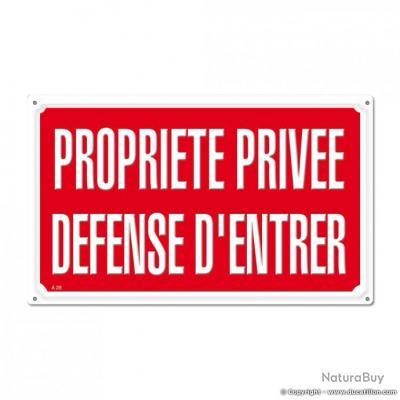 PROPRIETE PRIVEE DEFENSE D'ENTRER, aluminium