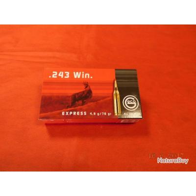 Balles GECO calibre  243 Winchester, ogive express