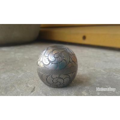 Boule de levier d'armement acier gravé main