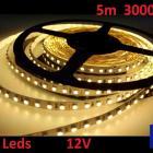 Ruban Bandeau Led Strip 5m 300 Leds de puissance 12V 3000K Livraison 48h offerte