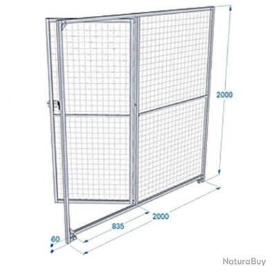 chenil 8 panneaux grillag s galva avec porte 2m chenils enclos parcs et portes 3979915. Black Bedroom Furniture Sets. Home Design Ideas