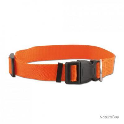 Collier nylon  réglable 40-60cm / Orange