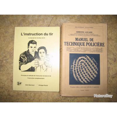 2 livres instruction et technique policiere