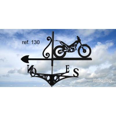 girouette de toit motif moto de trial d corations de jardin 4004143. Black Bedroom Furniture Sets. Home Design Ideas