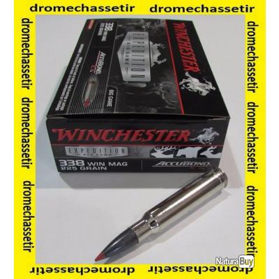 5 boites neuve de 20 cartouches calibre 338 winchetser Magnum, Winchester Accubond 225 grs