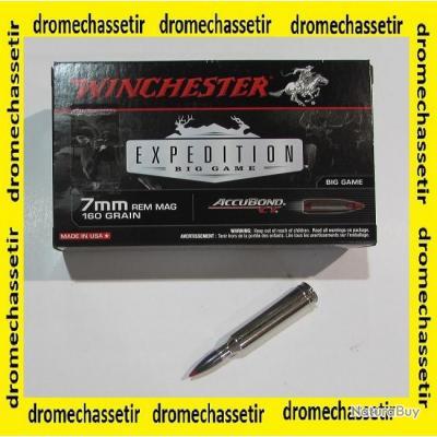1 boite neuve de 20 cartouches calibre 7mm Remington Magnum, Winchester Accubond 160 grs