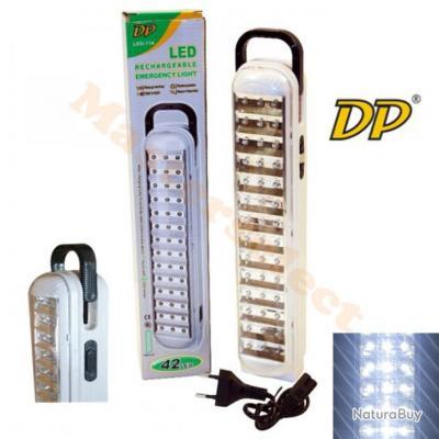 Lampe Torche Baladeuse A 42 Leds Rechargeable Sur Secteur Puissante