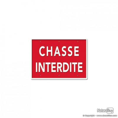 CHASSE INTERDITE, aluminium