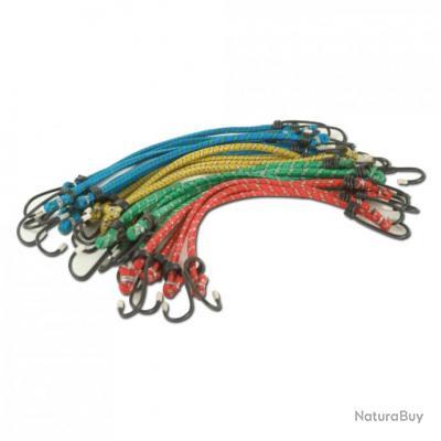 tendeurs lastiques crochets x 18 ficelle fil de fer 4021564. Black Bedroom Furniture Sets. Home Design Ideas