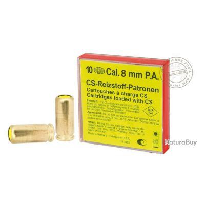 Cartouches 8mm Pistolet à gaz CS / 10 cart.