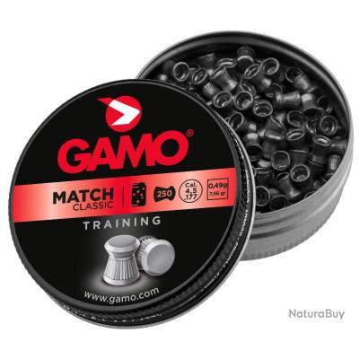 Plombs MATCH CLASSIC 4,5 mm - 250 - GAMO