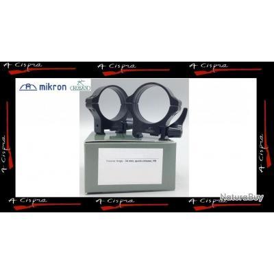 Colliers acier amovibles Medium  34mm  Rusan Quick-release  pour rails & embases weaver/picatinny