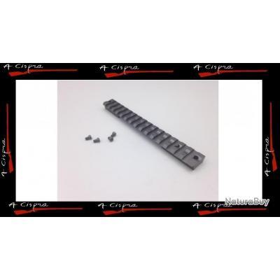 Rail Acier picatinny pour carabine Remington 700 boitier long (Long Action)