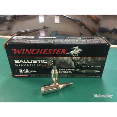 Rare boite balles 243WSSM winchester ballistic Neuve