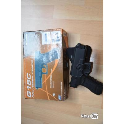 airsoft Glock G18c aep asg + chargeur compatible Marui + holster IMI