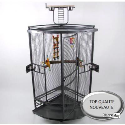 voliere d 39 angle cage perroquet cage perruche canari inseparable pinson 13o cages oiseaux et. Black Bedroom Furniture Sets. Home Design Ideas