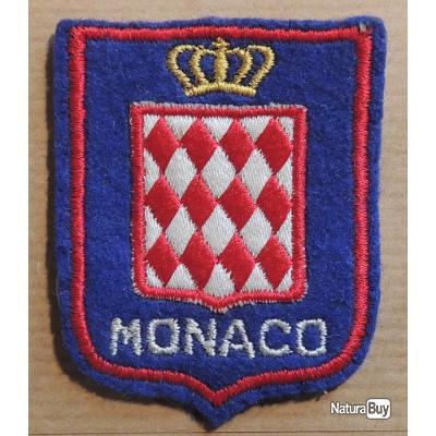 Patch cusson tissu touristique monaco 60 mm x 50 mm - Ecusson as monaco ...