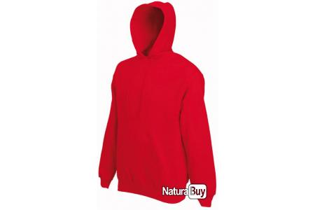 Sweat à capuche rouge taille XL Fruit Of The Loom mixte SC244