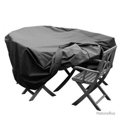 housse salon de jardin ovale h 78 cm i 150 cm l 224 cm. Black Bedroom Furniture Sets. Home Design Ideas