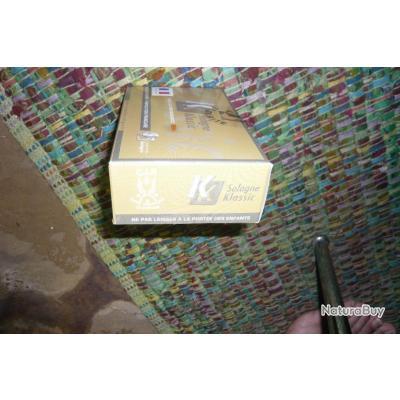 BOITE DE 20 MUNITIONS SOLOGNE KLASSIC  - CAL 450 MARLIN - HORNADY FP 350 GR - 22,7 G