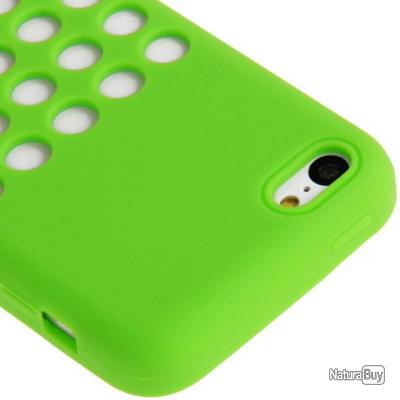 Coque Silicone pour iPhone 5C, Couleur: Vert