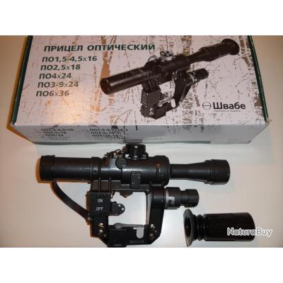 TIGRE  lunette de tir russe PO 4X24