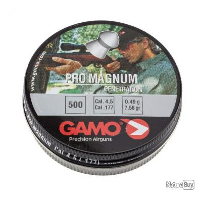 500 PLOMBS PRO MAGNUM TETE POINTUE CAL. 4,5 MM